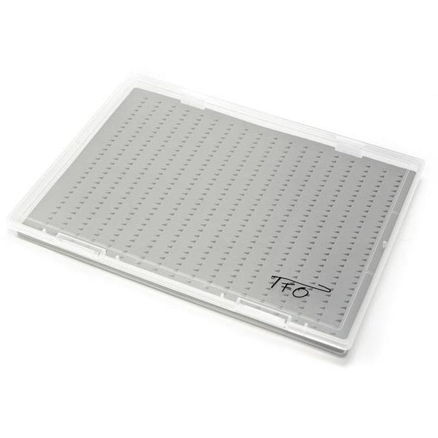 TFO XL CLEAR FLY BOX WITH SLIT FOAM