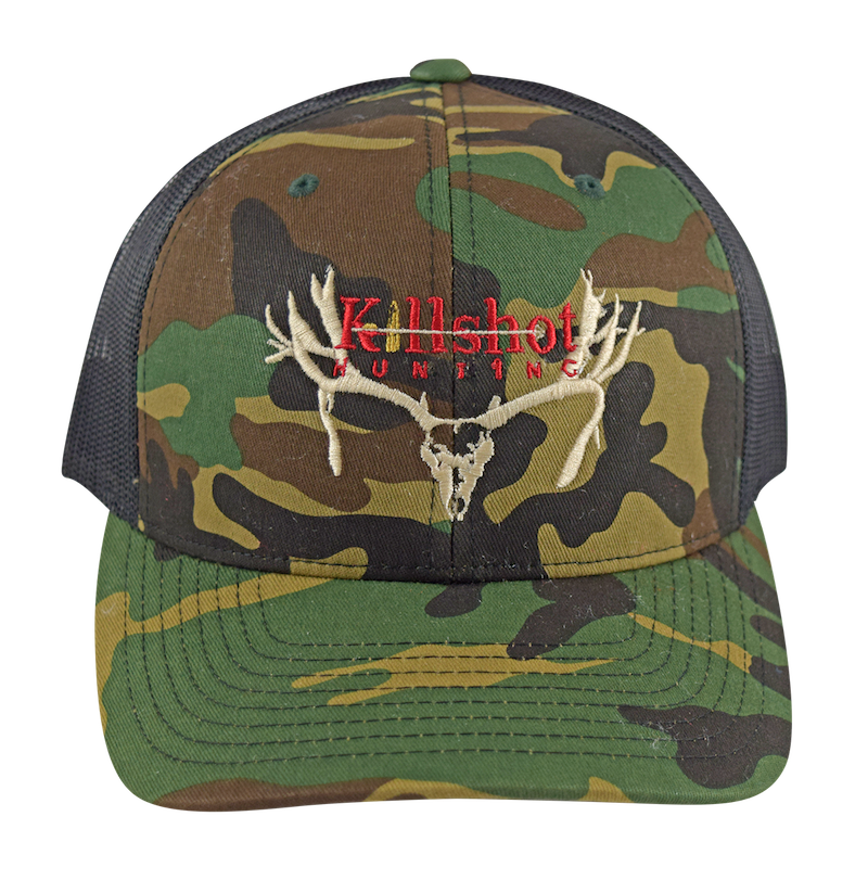 b03fb47cb69 Adjustable Trucker Hat - Black Camo - Killshot Hunting