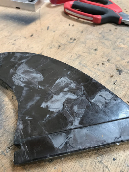 Prototype Carbon Fin for Smartfin.org