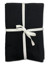 100% Egyptian Cotton Cloth Napkins 12 Pack (Black)
