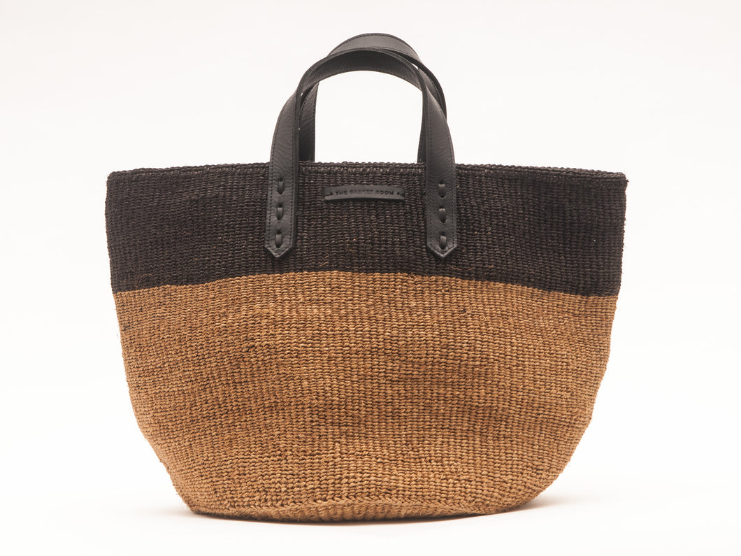 Himiza Sisal and Leather Woven Market Bag - MoLi Products