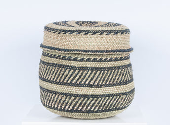 Nyumba - Small Woven Storage Basket with Lid