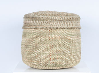 Pango - Small Natural Lidded Storage Basket