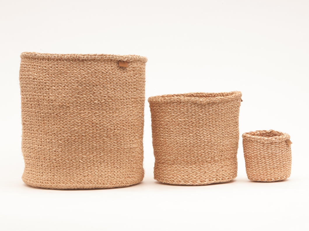 Utulivu Natural Woven Storage Baskets - Set of 3 - MoLi Products