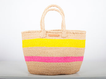 Waridi Woven Market Basket Shopper - MoLi Products