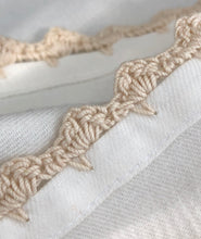 100% Egyptian Cotton Cloth Napkins Crocheted Border 6 Pack