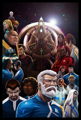 EFC Vol. 1: Book 2: Captain Taylor: Starship Ceu Poster 1