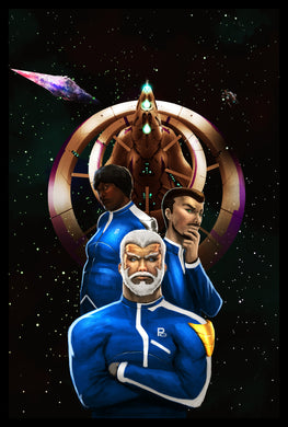 EFC Vol. 1: Book 2: Captain Taylor: Starship Ceu Poster 2