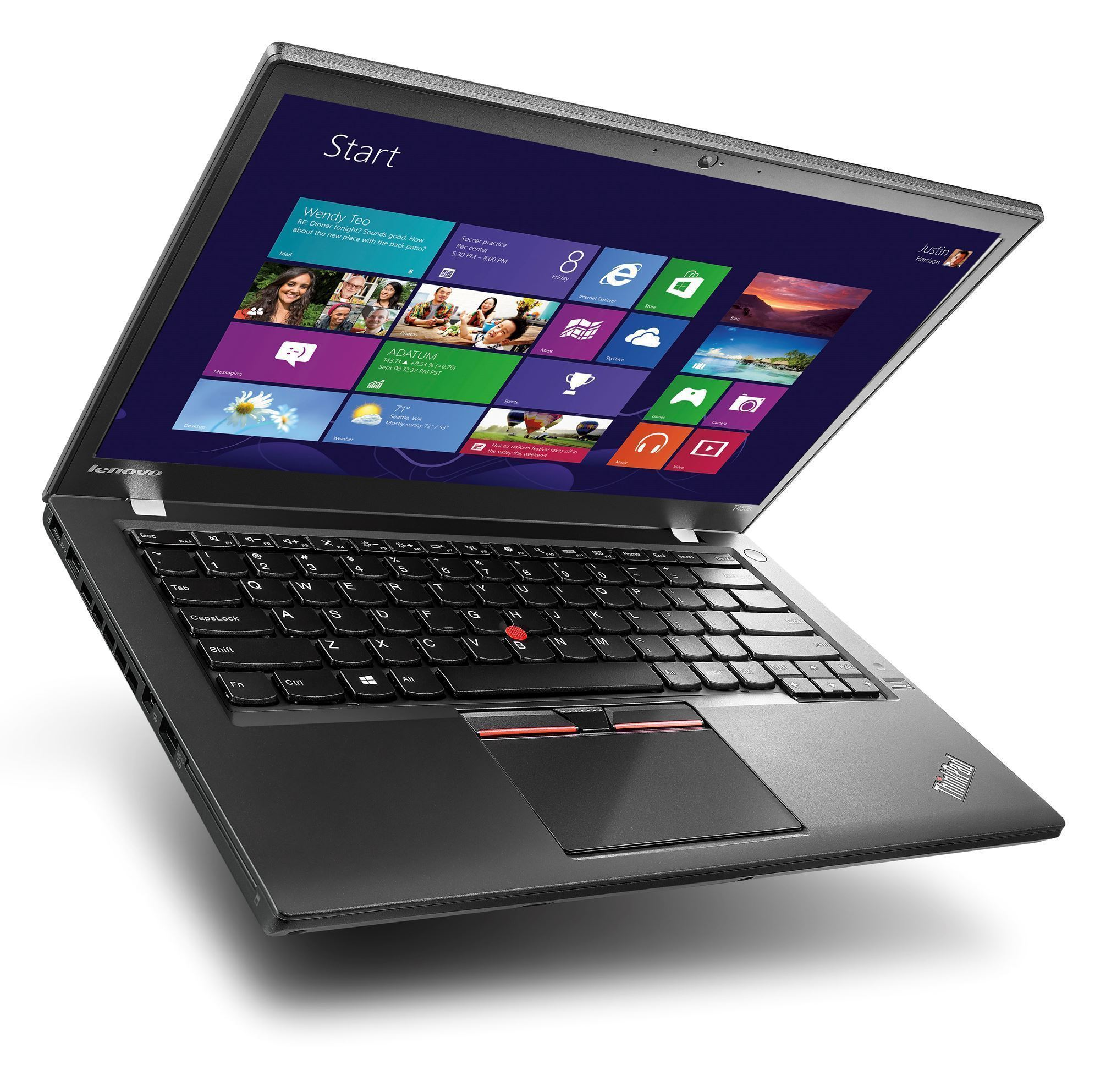 "Lenovo ThinkPad- X250 Ex Lease Laptop i5-5300U 2.30GHz 8GB RAM 256GB SSD 12.5"" WebCam Windows 10 Pro"