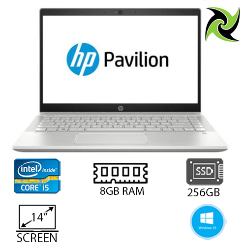 "HP Pavilion 14-Ce1xxx Ex-Lease I5-8265u 1.60ghz 8GB RAM 256GB SSD 14"" Webcam Win10 Home (Minor Dent Corner)"