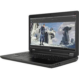 "HP ZBook 17 G2 Ex Lease Laptop Workstation  i7 4710MQ 2.5GHz 16GB RAM 500GB HDD +256GB SSD Nvidia Quadro K2200M 2GB  17"" Full HD Screen Webcam Win 10 Pro"