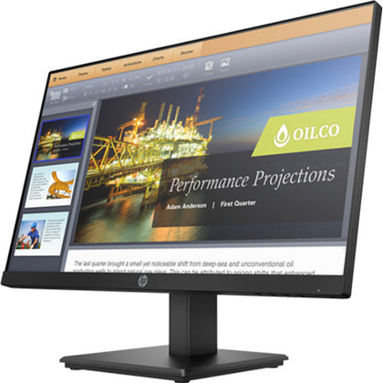 HP P244 23.8-inch LED SLIM Monitor FULL HD 1920*1080 IPS Screen VGA+DISPLAY+HDMI PORT (Comes in the original box) Monitor - PC Traders New Zealand