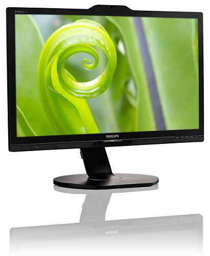 PHILIPS EX-LEASE LCD 241P6Q 24-Inch WEBCAM IPS 1920 x 1080 FULL HD - PC Traders New Zealand