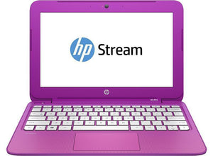 HP STREAM NOTEBOOK 11-d009TU Ex Lease Laptop Intel Celeron N2840 2.16GHz 2GB 32GB SSD 11.6 Inch Screen Windows 10  Orchid Magenta