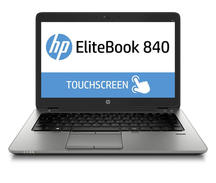 HP EliteBook 840 G1 Ex Lease Laptop Touch Screen i7-4600U 2.1 GHz 8 GB RAM 256 GB SSD 14