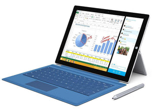 "MICROSOFT SURFACE PRO 3  i5-4300U 1.90GHz  4GB 128GB SSD  12"" 2K Res Screen WEBCAM W10PRO Keyboard Cover & Pen Included."