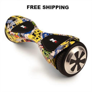 X1 6.5 inch Graffiti Hoverboard bluetooth speaker - NZ Certified Hoverboard! - PC Traders New Zealand