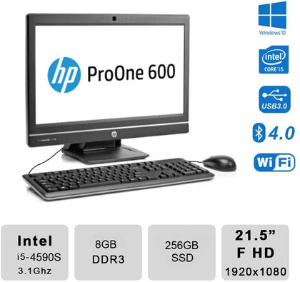 HP ProOne 600 G1 ex-lease i5-4560s 3.1Ghz 8GB RAM 240GB HDD 21.5