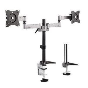 "BRATECK 13""-27"" Dual LCD Desk Mount - PC Traders New Zealand"