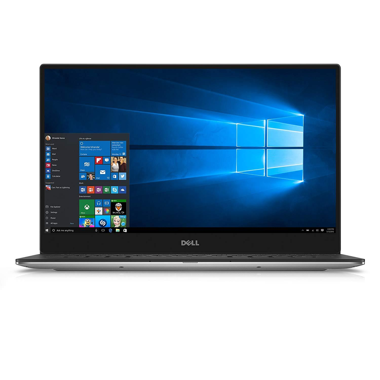 Dell XPS 13 9350 Ex-Lease Intel Core i5 6200U 2.3 GHz 8 GB RAM 256 GB SSD 13.4 Inch Wide Screen Webcam Win 10 Pro