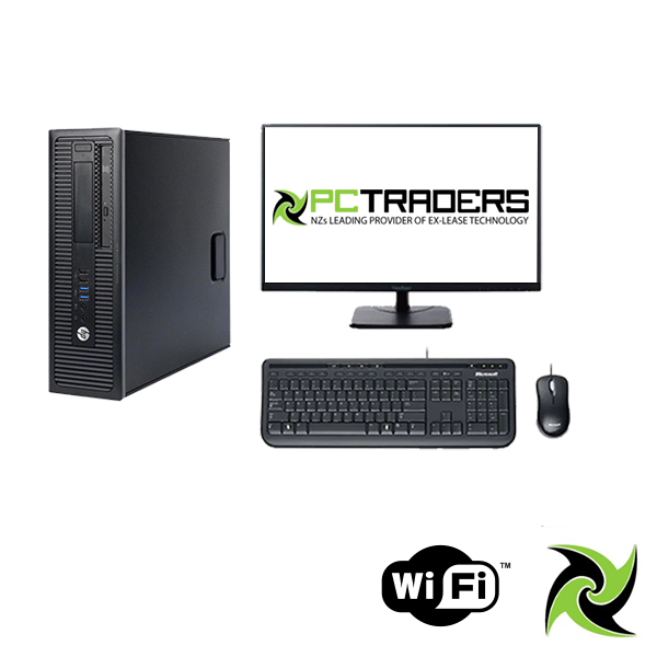 "Budget Combo for Home users !! HP EliteDesk 800 G1 SFF Ex Lease Desktop i5 4th Gen 8GB RAM 240GB SSD Windows 10 Home, Includes : 23"" Monitor, PCI Wireless card Installed , Wired Keyboard and Mouse"