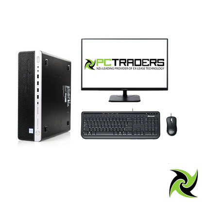 Single Screen Combo!! HP EliteDesk 800 G3 SFF Ex Lease Desktop i7-6700 3.4GHz 16GB RAM 256GB SSD Windows 10 Pro, Includes: 24