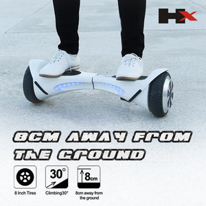 X1 6.5 inch White Hoverboard bluetooth speaker - NZ Certified Hoverboard! - PC Traders New Zealand