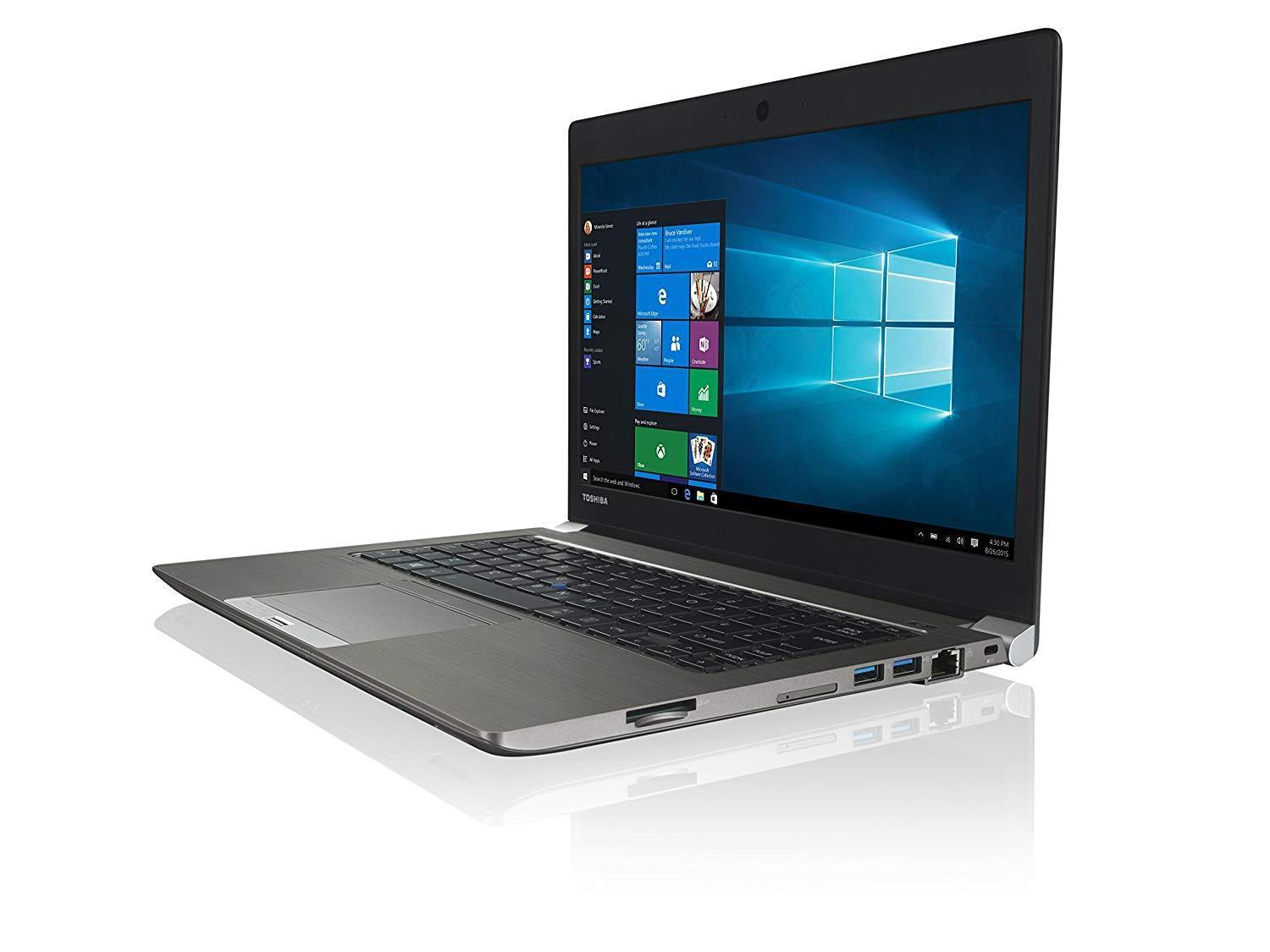 Toshiba Tecra A40-C Ex Lease Laptop Intel Core i5 6200U 2.4GHZ 8GB 480 GB SSD NEW! 14 Inch Screen WebCam Windows 10 Home