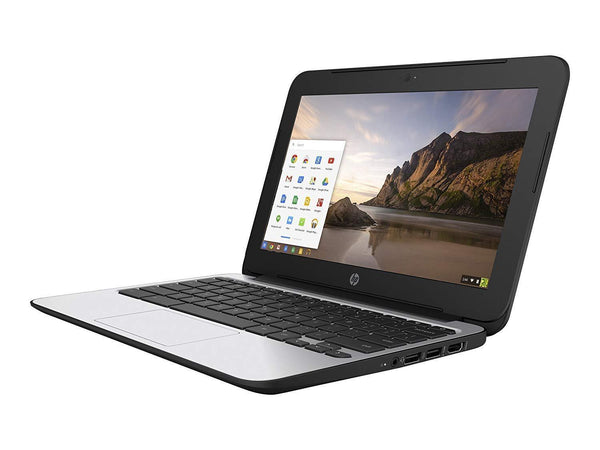 B GRADE-HP Chromebook 11 Generation 4 Ex Lease Intel Celeron Processor  N2840 2 16GHz 2GB RAM 16GB eMMC 11 6 Inch LED Display WLAN Bluetooth Webcam  OS