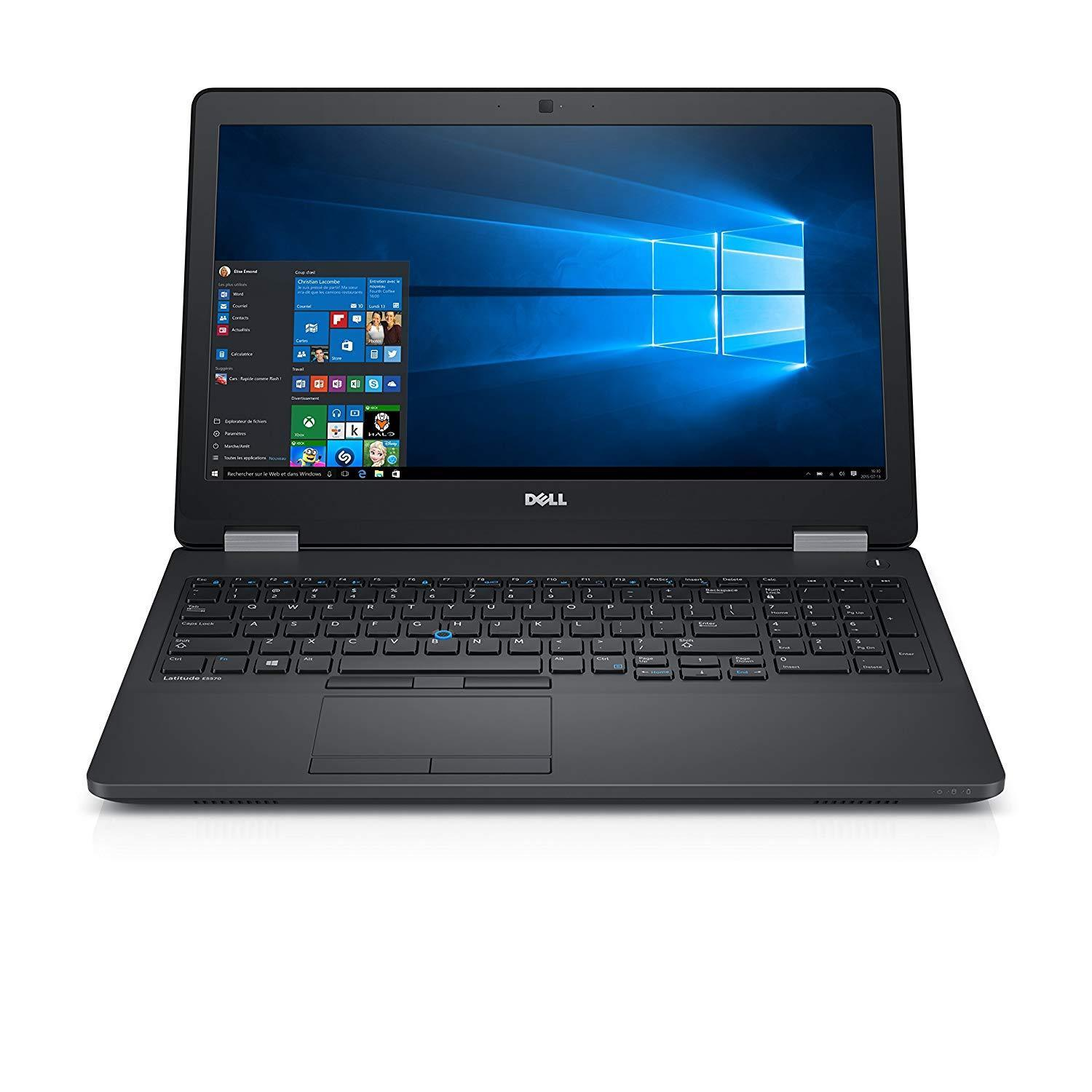 "Dell Latitude E5570 Ex-Lease i7-6820HQ 2.70GHz 16GB RAM 512GB SSD 15"" Radeon R7 2GB Card Webcam Win 10 Home"