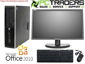 "Education Package - Complete Workstation! HP Compaq 8100 Elite SFF i5 Dual Core 3.6GHz 4GB RAM 1TB HDD Win7 Pro + 22"" Brand Name Monitor - 12 Month Warranty!"
