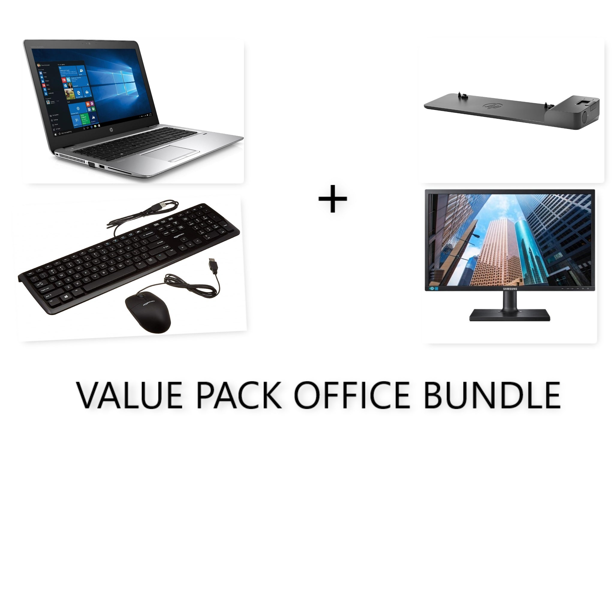 HP OFFICE COMBO!!! HP ELitebook 850 G3 i5 + 24inch FULL HD MONITOR + HP SLIM DOCKING STATION (all cables will provided)