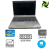 "B Grade - HP EliteBook 8570p Ex Lease Laptop i5-3320M 2.60GHz 8GB RAM 240GB SSD DVD-R 15"" Webcam Windows 10 Pro (B grade : Dents on body)"