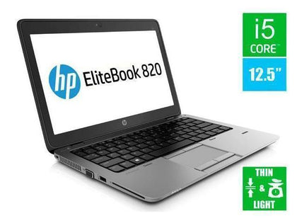 HP EliteBook 820 G2 Ex Lease Laptop i5-5200U 2.2 GHz 8GB RAM 240GB SSD 12
