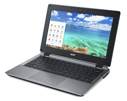Acer C730E-C5GG ChromebookEx Lease Intel Celeron N2940 1.83 GHZ 4GB 16 GB STORAGE 11.6 Inch Wide Screen WebCam CHROME OS - PC Traders New Zealand
