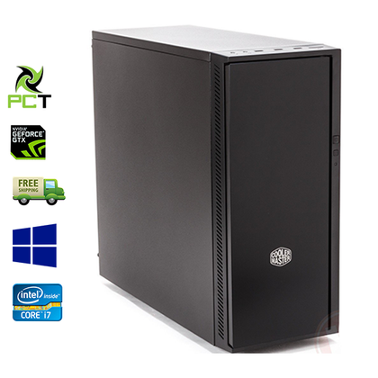 Custom Built Cooler Master Ex Lease Tower PC Intel Core i7 3770 3.4 GHz 16GB Ram 240GB SSD + 500GB HDD NVIDIA (GeForce GTX 760 2GB ) Win 10 Gaming PC - PC Traders New Zealand