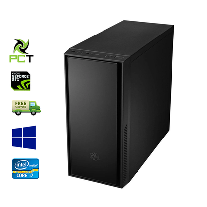 Custom Built Cooler Master Ex Lease Tower PC Intel Core i7 3770 3.4 GHz 16GB 240GB SSD + 500GB HDD NVIDIA (GeForce GTX 670 2GB UHD) DVD-R Win 10 Home