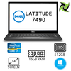 "DELL LATITUDE 7490 EX-LEASE I7-8650U 1.90GHz 16GB RAM 512GB SSD NO ODD 14"" WEBCAM WIN 10 PRO"
