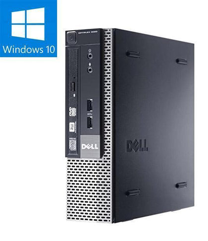 Business [COMBO DEAL] DELL OptiPlex 9020 USFF Ex Lease Desktop i5-4570s 2.9GHz 8GB RAM 240GB SSD DVD-RW Windows 10 Pro + 2x 24