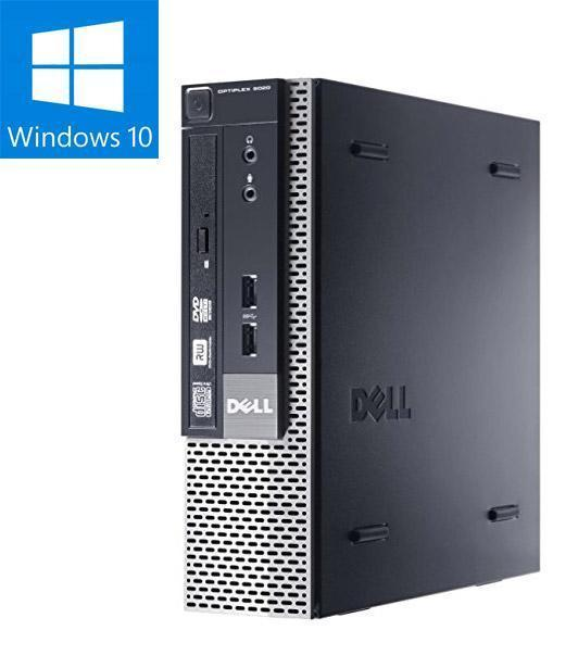 B Grade - DELL OptiPlex 9020 USFF Ex Lease Desktop i5-4570s 2.9GHz 8GB RAM 240GB SSD DVD-RW Windows 10 Pro (Ethernet Faulty, Will Provide USB WIFI Adapter)