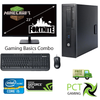 "Entry level Gaming Combo !! HP EliteDesk 800 G1 SFF Ex Lease Desktop i5 4th Gen 8GB RAM 500GB HDD Windows 10 Home Includes : 23"" Monitor, Nvidia GT710 2GB Graphics Card, Wired Keyboard and Mouse"