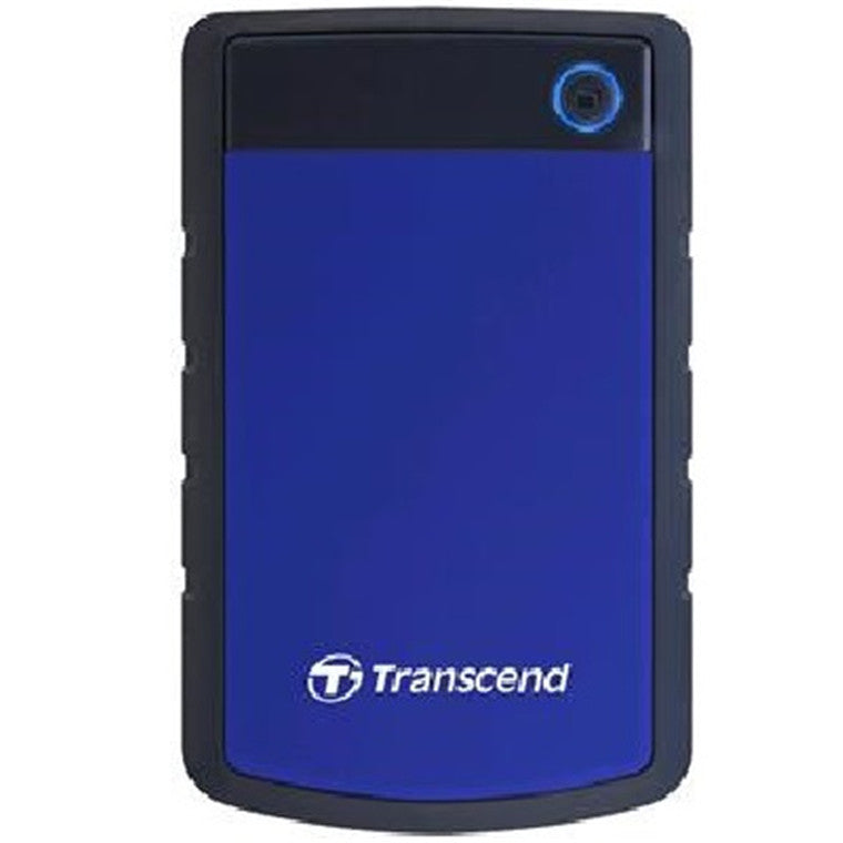 "Transcend 1TB StoreJet 25H3 2.5"" USB 3.0 External HDD , Durable Anti-shock Silicon Outer Shell , Military-grade shock resistance - Blue Color"