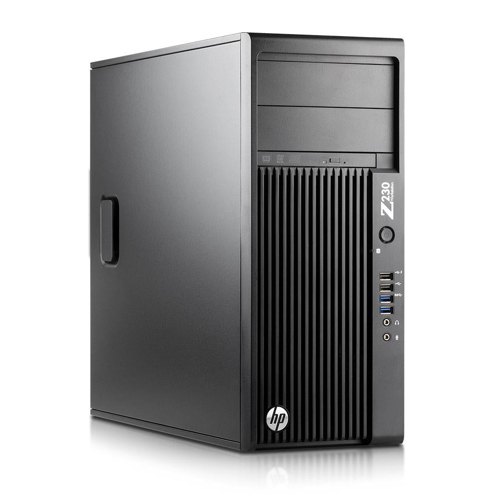 HP Z230 EX-LEASE GAMING TOWER  i7-4790 3.6 GHz 16GB RAM 256GB SSD + 2TB HDD Nvidia  GTX 710 2GB WIN 10