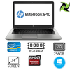 "HP Elitebook 840 G2 Ex Lease Laptop i7-5600U 2.60GHz (Turbo boost  3.2Ghz) Full HD Display 8GB RAM 240GB SSD [ RADEON R7 M260X / HD Graphics 5500] 14"" Webcam Windows 10 Pro"