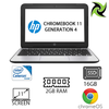 HP Chromebook 11 Generation 4 Ex Lease Intel Celeron Processor N2840 2.16GHz 2GB RAM 16GB eMMC 11.6 Inch LED Display WLAN Bluetooth Webcam OS Google Chrome