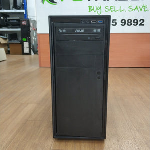Custom Built Ex Lease Desktop i5-4570 3.2GHz 16GB RAM 1TB HDD 4GB GDDR GTX1050Ti DVD-RW Windows 10 Home - PC Traders New Zealand