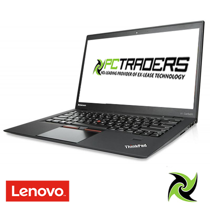 LENOVO X1 CARBON 5TH GEN EX-LEASE I5-7300U 2.60GHz 8GB RAM 256GB SSD NO ODD 14