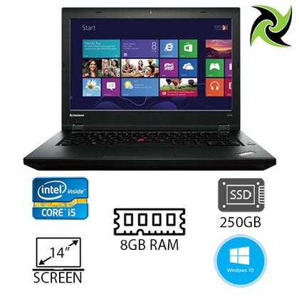 Lenovo ThinkPad L440 Ex Lease Laptop i5-4300M 8GB RAM 250GB SSD 14