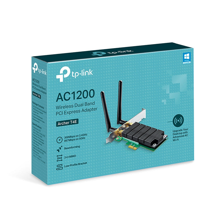 TP-Link Archer T4E Dual-Band AC1200 PCI-E Wi-Fi Adapter