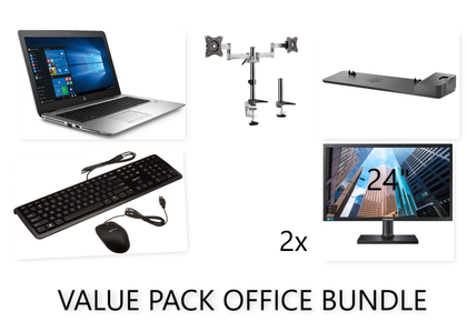 HP OFFICE COMBO!!! HP ELitebook 850 G3 i5 + 2x 24inch FULL HD MONITOR + HP SLIM DOCKING STATION (all cables will provided) + BRATECK 13